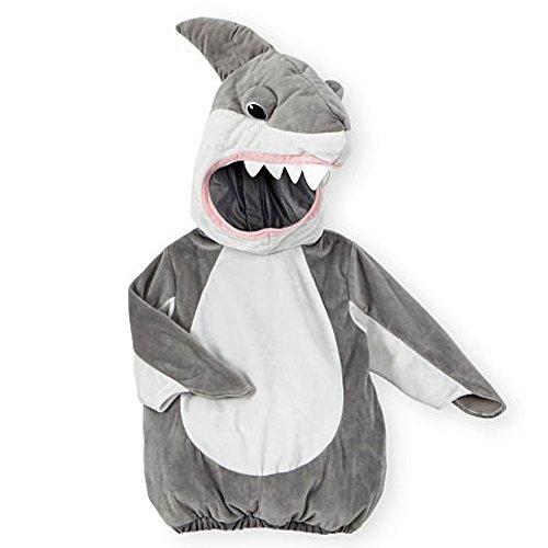 Koala Kids Kinder Baby Halloween Fasching Karneval Kostüm Plüsch Fell Shark Overall Hai Fisch (68-74)