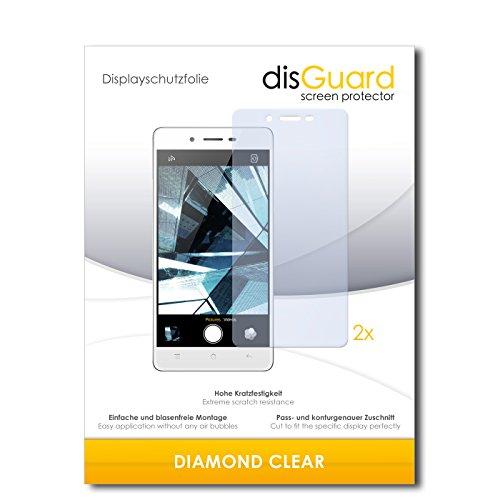 2 x disGuard® Displayschutzfolie Oppo Mirror 5s Schutzfolie Folie