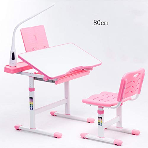Computertische FEI Kinder Schreibtisch Stuhl Set Höhenverstellbar Kinder Student School Study Table Arbeitsplatz mit Lagerung, Pink, blau...