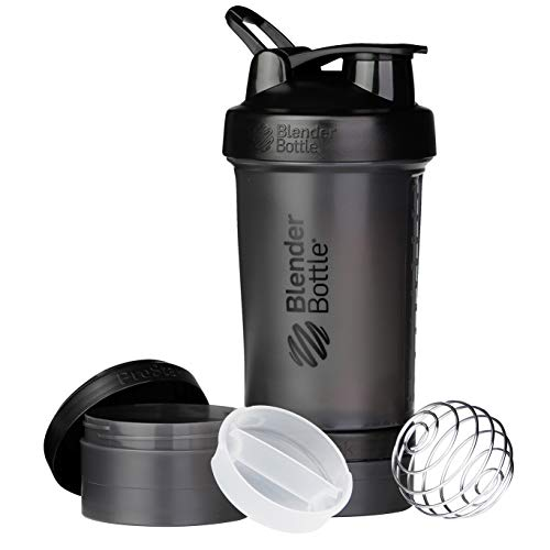 BlenderBottle ProStak, Workout Accessories Unisex-Adulto, Nero, 650 ml