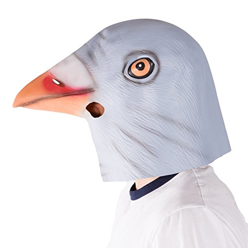 Kostüm Taube Maske (Bodysocks - Latex Gummi Tier Halloween Kostüm Maske)