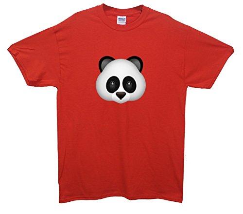 Panda Bear Emoji T-Shirt Rot