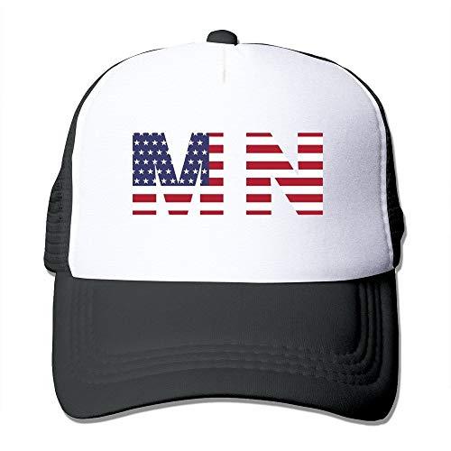 Huseki Mn State of Minnesota Flag Trucker Baseball Mesh Cap Adjustable Fashion Hats Black Hüte Mützen -