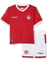 Uhlsport Baby FC Kaiserslautern Home Mini Kit 17/18Jersey, Chilli Red/White