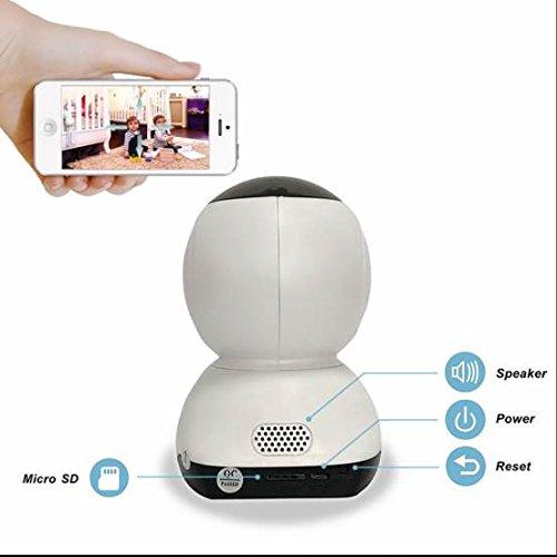 Preisvergleich Produktbild Kabellose Security Kamera, drahtlose WIFI IP berwachungskamera, IR-Cut HD Nachtsicht, Sicherheitssystem Videoaufnahme, Full-HD-Stecker / Wiedergabe, Externer 433MHZ Funkalarm, Standard 5V / 2A / USB Schnittstelle