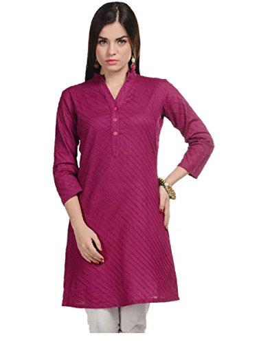 Muta Fashions Dark Pink Kurti For Fancy Women's Kurtas for Girls Fabric...