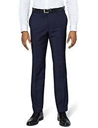 DKNY Men`s Slim Fit Panama Blue Suit Trousers