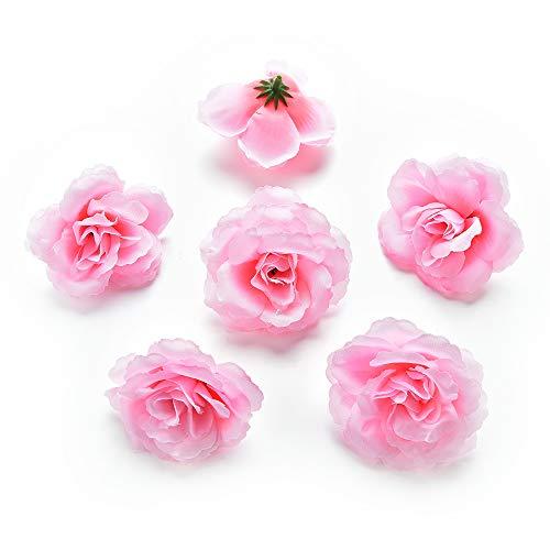zum Basteln, künstliche Blumenköpfe aus Seide, zum Basteln, für Dekoration, Hochzeit, Heimdekoration, festliches Zubehör, Party-Dekoration, 30 Stück/Lot 7 cm Rose ()