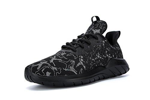 Soulsfeng Fashion Sneakers Uomo Donna Unisex Scarpe da Corsa Running Brilla al Buio (40 EU, Nero)