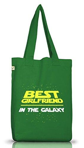 Valentinstag Paar Partner Valentine Jutebeutel Earth Positive Best Girlfriend In The Galaxy Motiv Moss Green