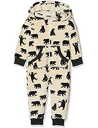 Hatley Hooded Fuzzy Fleece Black Bear Family Jumpuits, Pijama de una Pieza para Mujer