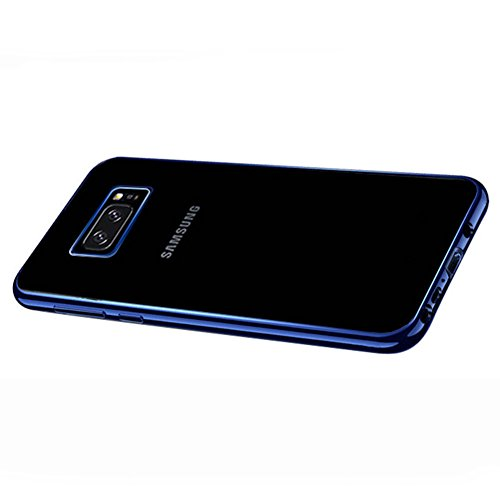 Coque Samsung Galaxy Note 8, MSVII® TPU Souple Transparent Bumper Coque Etui Housse Case et Protecteur écran Pour Samsung Galaxy Note 8 - Or rose JY60068 Bleu