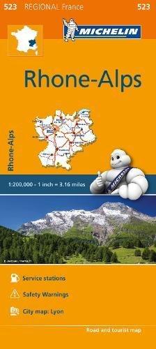 Rhone-Alps - Michelin Regional Map 523: Map [Lingua inglese] di Michelin Travel & Lifestyle