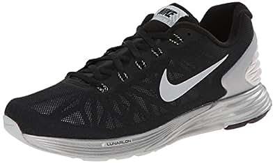Nike Lunarglide 6 Flash, Baskets mode femme - Noir (Black/Reflect Silver), 36.5 EU