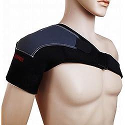 Dehang - Hombrera Faja Protector Protección Deportiva Ajustable de Hombro para Gimnasio Fútbol Baloncesto - Negro - Hombro derecho