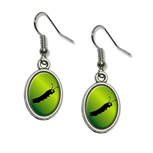rpillar Neuheit Dangling Drop oval Charm-Ohrringe (Caterpillar-kostüme)