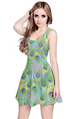 CowCow - Robe - Femme Gray Crows Light Green Peacock