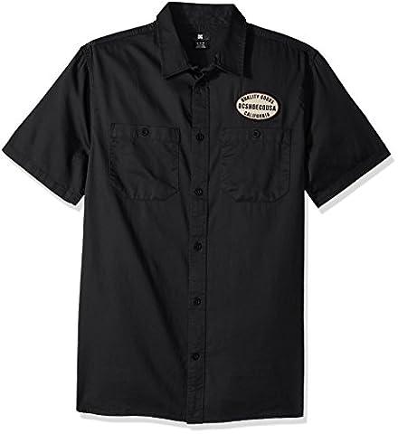 DC Men's Derwent Short Sleeve Shirt, Black, 2XL
