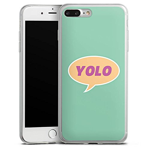 Apple iPhone X Slim Case Silikon Hülle Schutzhülle YOLO Sprechblase Statement Silikon Slim Case transparent