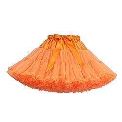 VEMOW Heißer Elegante Mädchen Karneval Mode Einfarbig Tanzparty Tanz Ballett Nette Tutu Tüll Röcke (T, Freie Größe)