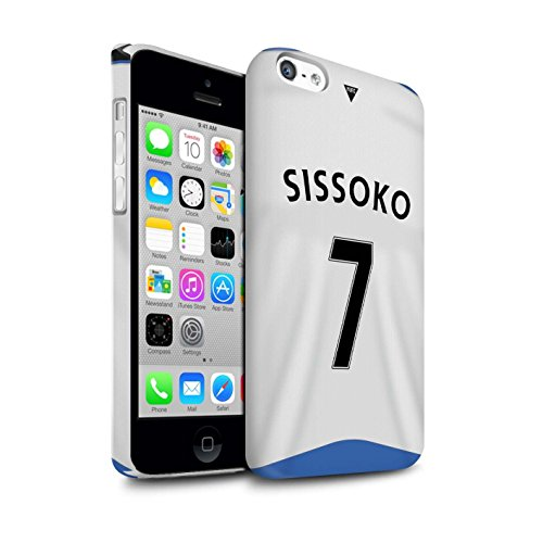 Offiziell Newcastle United FC Hülle / Glanz Snap-On Case für Apple iPhone 5C / Torwart Muster / NUFC Trikot Home 15/16 Kollektion Sissoko