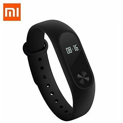 ollivan Original XIAOMI Mi Band 2der Band des Armband Smart mit Display Touchpad LED Intelligente Pulsmesser Fitness Tracker Schrittzähler kabellos Wasserdicht Bluetooth 4.0Wristband (schwarz)