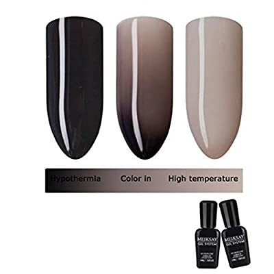 LHWY 10ML Thermal Temperature Change Colors Soak Off Nail Lacquer UV LED Polish Gel