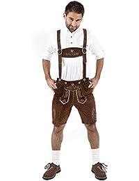 Almbock Lederhose Herren kurz | Trachten Lederhose kurz aus edlem Leder von Gr. 46-60 | Kurze Lederhose in vielen Farben perfekt für Oktoberfest oder Karneval