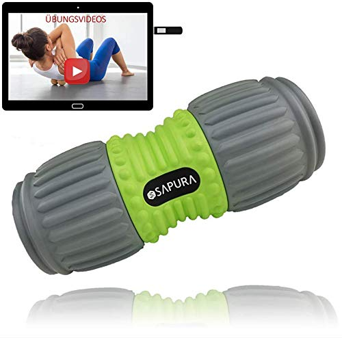 Faszienrolle Wirbelsäule ✓ Rückenrolle ✓ Foam Roller Schulter + USB Stick