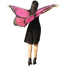 Overdose Damen Karneval Kostüm Faschingskostüme Kinder Mädchen Schmetterling Flügel Kostüm Butterfly Wing Cape Schmetterlingsflügel Erwachsene Kimono Schal Cape Tuch