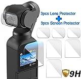Colorful Displayschutz für DJI OSMO Pocket Kamera, 3 Pack Displayschutzfolie Schutzfolie und 3 Pack Objektiv Schutz Objektiv Schutzfolie Zubehör für DJI OSMO Pocket Kamera