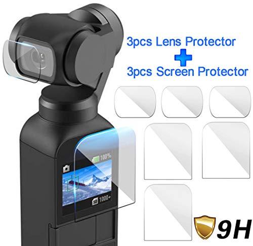 Bibao Explosionssichere Membran für OSMO Pocket,3 Stück Displayschutzfolie + 3 Stück Linsen-Schutzfilm