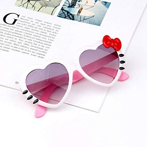 Li Kun Peng Kinder Herz Sonnenbrille Schöne Baby Brille Für Jungen Und Mädchen Kinder Sonnenbrille Shades Für Kinder Ua400,C6White