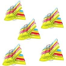 JZK 20 Piezas Grande Playa Toalla Clips Pinzas lavarse Pinzas Clips de Ropa de plástico de