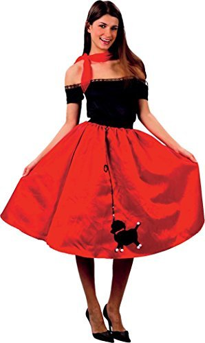rty Outfit 1950er Jahre Tanz Rock N Roll Bopper Pudel Rock Kleid (Pudel-rock Kleider)