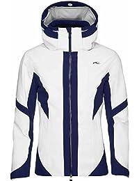 Kjus Laina – Chaqueta de esquí para Mujer, Hombre, Color White-Atlanta Blue