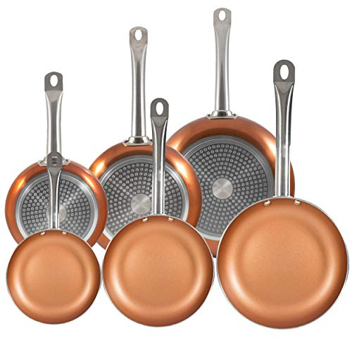 San Ignacio PK1410 Professional Chef Copper Plus Set 6 sartenes +, Aluminio Prensado