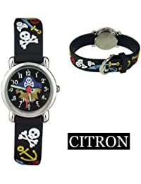 (Citron) Kinder Analog Armbanduhr (Pirat)