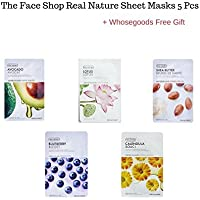 The Face Shop Real Nature sheet masks 5 pieces + FREE GIFT (Shea Butter,