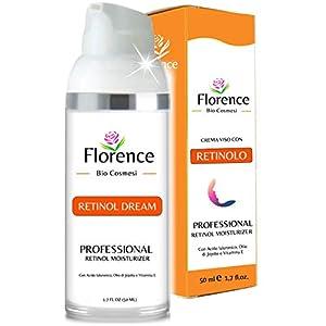Grande 100ml. Bio Crema Hidratante facial con Ácido Hialurónico, Retinol y Vitamin C. 20+Ingredientes Orgánicos Antiedad…