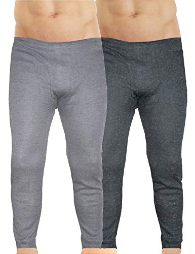 LisaModa Herren Thermounterhose 2er Pack grau Winter Leggings Größe XXXL