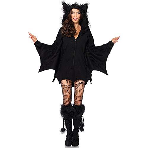 Vampir Kostüm Weiblichen Sexy - XWDQ Halloween Fledermaus Kostüm Cosplay Cosplay Sexy Vampir Weibliche Fledermaus Kostüm,XXL