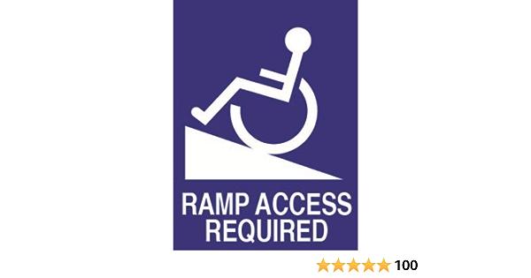 Behinderten Aufkleber Für Das Auto Englische Aufschrift Ramp Access Needed 170 X 125 Mm Außen Auto