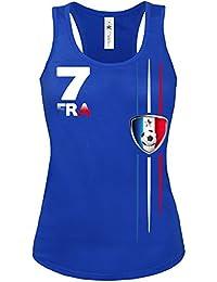 FOOTBALL WORLD CUP - EUROPEAN CHAMPIONSHIP FRANKREICH FAN Femme Débardeur Small - X-Large