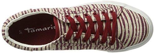 Tamaris 23602, Scarpe da Ginnastica Basse Donna Multicolore (RED/BEIGE 577)