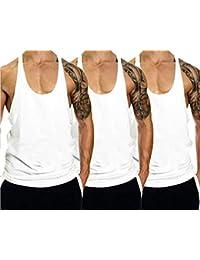 627a10498996f TX Apparel Men s Gym Cotton Tank Tops Muscle Stringer Vest 3er Pack