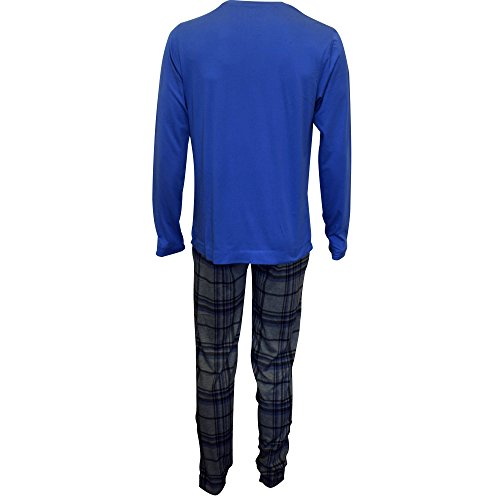 Jockey® Pyjama 1/1 Knit Blau/Grau