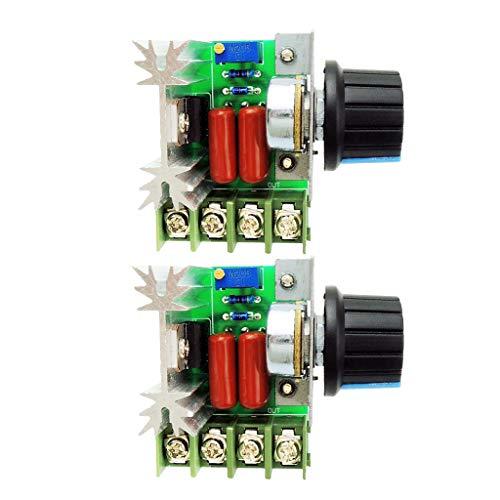 sharprepublic 2 Stücke Digitalanzeige PWM DC Motor Controller Drehzahlregler (12-volt-spannungsregler Schaltung)