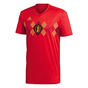 adidas Children's Belgium Home Shirt, Children's, BQ4528, Vivred/Power red/Bold gold, 68.0