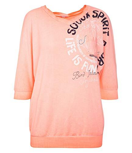 SOCCX Damen Sweatshirt mit kurzen Ärmeln und Print -